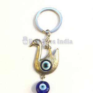 Swan Evil Eye Keychain
