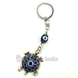 Evil Eye Key chain with Tortoise