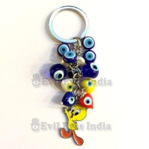 Tweety-Evil-Eye-Keychain