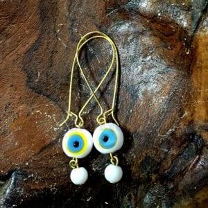 White-Evil-Eye-Earrings
