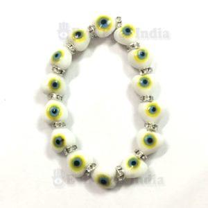 Genuine Evil Eye Heart Beads Bracelet