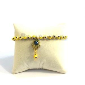 Cute Tiny Evil Eye Bracelet with Hamsa Hand
