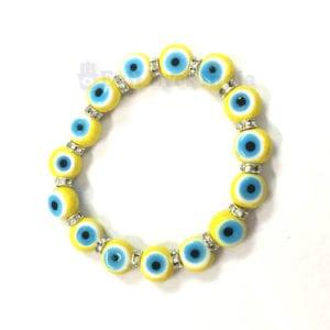 Yellow Evil Eyes Bracelet for Joy & Optimism