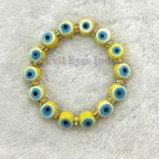 Premium Yellow Evil Eyes Bracelet