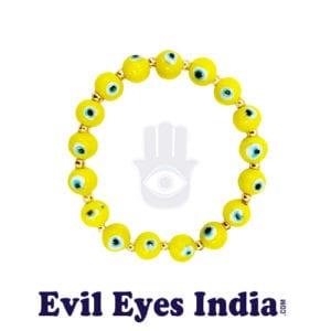 Evil Eye Bracelet – Yellow for Optimism
