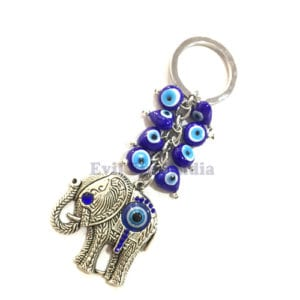 Cute Elephant Evil Eyes Keychain