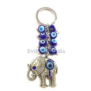 Cute Elephant Evil Eyes Keychain