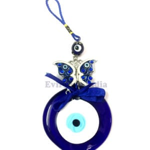 Evil Eye Hanging with Authentic Bead and Butterfly