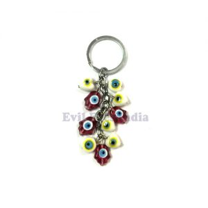Evil Eyes Keychain with Hamsa Hands