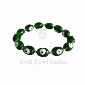 Deep green Evil Eye Bracelet