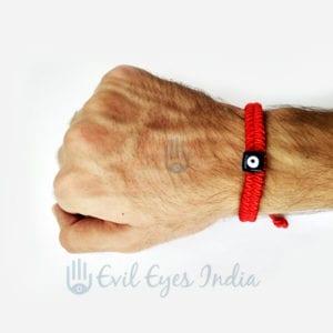 Genuine Red Evil Eye Bead Bracelet