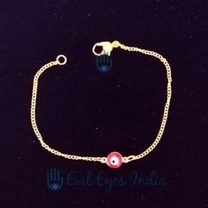 Evil Eye Bracelet With Golden Chain