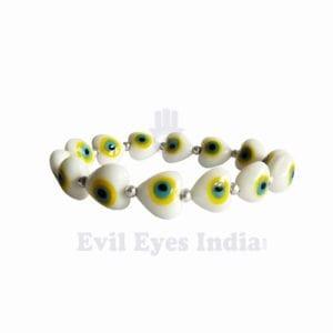 Evil Eye Heart Beads Bracelet