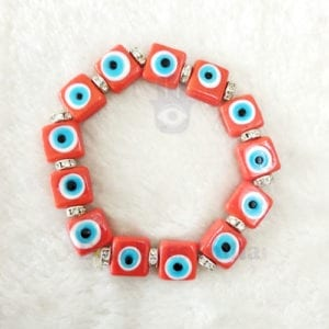 Red Evil Eyes Bracelet for Courage & Protection