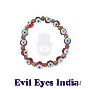 Evil Eye Bracelet with Buddha Beads