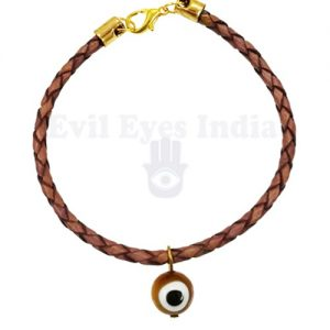 Leather Stringed Evil Eye Bracelet