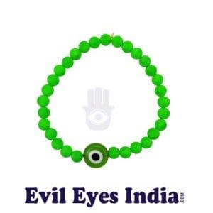 Fashion- Evil Eye Bracelet Green Colour