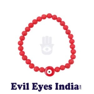 Cute Red bead Evil Eyes Bracelet