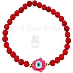 Evil Eyes Bracelet with Hamsa Hand bead