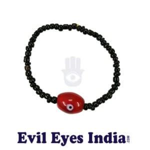 Red Bead Evil Eye Bracelet