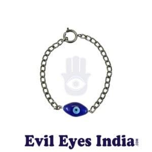 Eye Shaped Bead Masculine Evil Eye Bracelet
