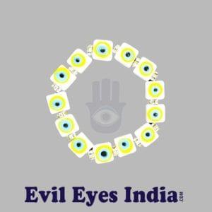 Evil Eye Bracelet – White