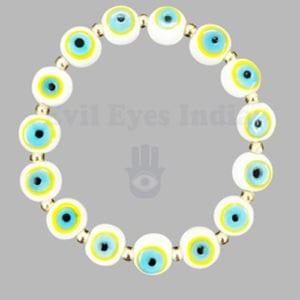 Premium White Evil Eyes Bracelet