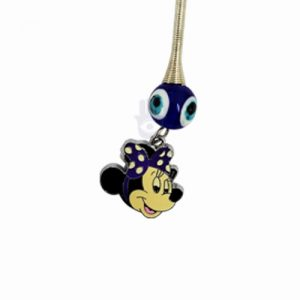 Blue Mini Mouse Keychain with Evil Eye