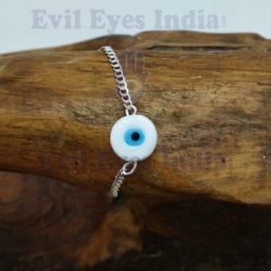 Evil Eye Bracelet With Silver Chain