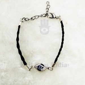 Cute Evil Eye Bracelet With Silver Chain