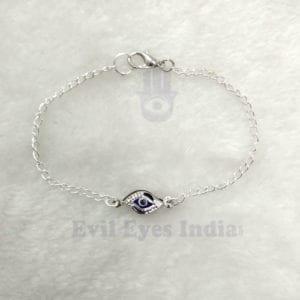 Silver Chain Evil Eye Bracelet