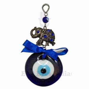 Oxidized Elephant Evil Eye Hanging