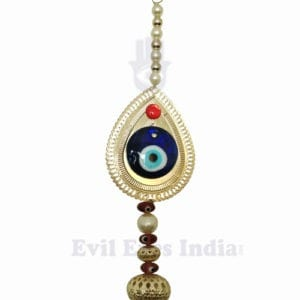 Evil Eye Hanging Decorative Golden
