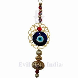 4 Red Beads Evil Eye Hanging