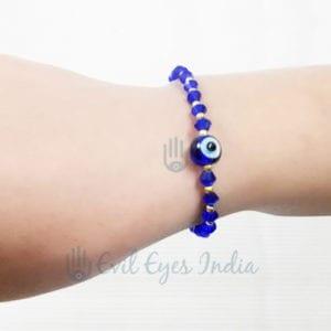 Evil Eye Bracelet With Crystal (Blue)