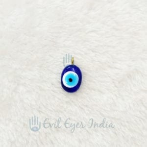 Oval Evil Eye Pendant (Small)