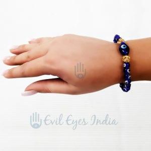 Cute Evil Eye Bracelet With Eye Shape Beads