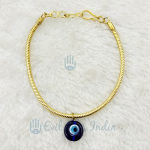 Golden Colored Classic Evil Eye Anklet