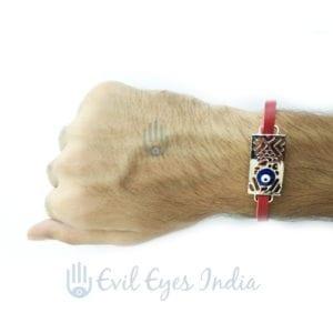 Unisex Evil Eye Bracelet (Red)