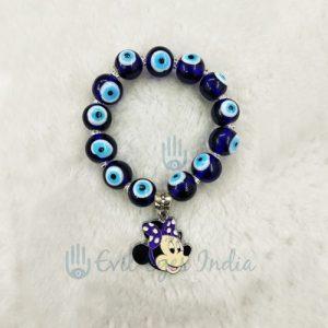 Evil Eye Bracelet With Mini Mouse (Blue)
