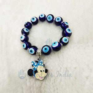 Evil Eye Bracelet With Mini Mouse (Sky Blue)