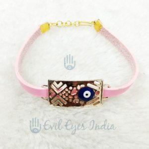 Unisex Evil Eye Bracelet (Pink)