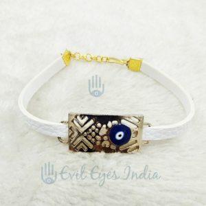 Unisex Evil Eye Bracelet (White)
