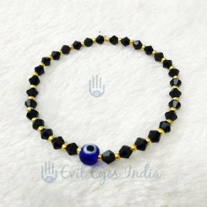 Evil Eye Bracelet With Crystal (Black)
