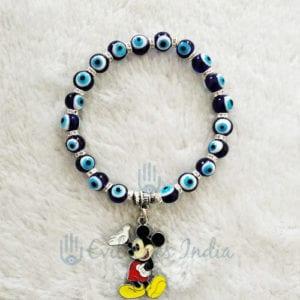 Evil Eye Bracelet With Mickey Mouse