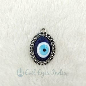 Oxidized Evil Eye Pendant