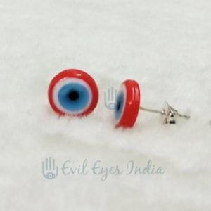 Evil Eye Stud Earring (Red)