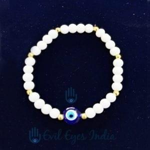 Blue Bead Evil Eye Bracelet