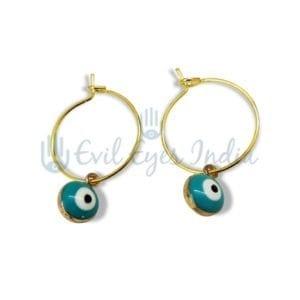 Turquoise Evil Eye Drop Earring