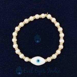 White Evil Eye Bracelet For Peace